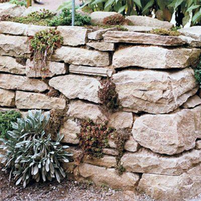 Trockenmauer zweiwandig