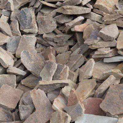 Dünne Trockenmauersteine